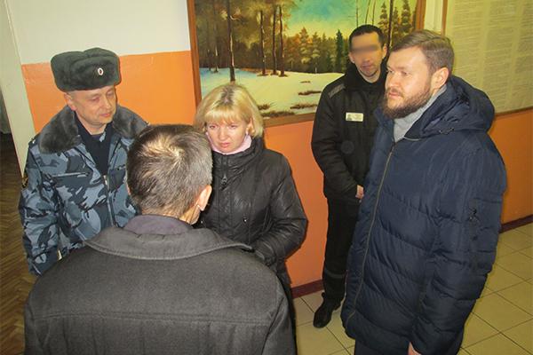 Юлия Ситникова и иерей Алексей Попов провели проверку условий отбывания наказаний и соблюдение прав осужденных в учреждениях УФСИН, а также провели личный прием