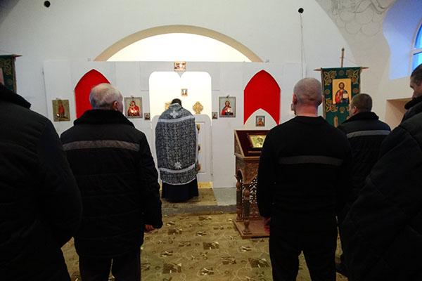 В исправительной колонии №1 г. Донского прошли богослужения Великого повечерия с чтением покаянного канона преподобного Андрея Критского